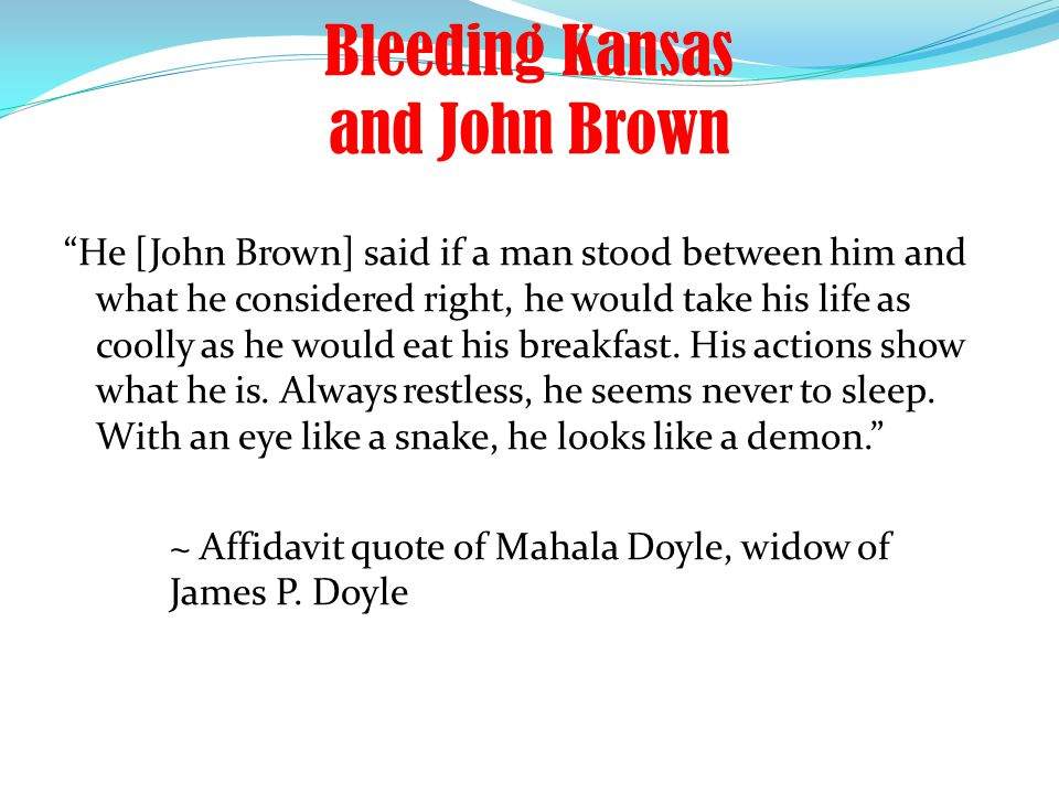 Bleeding Kansas and John Brown