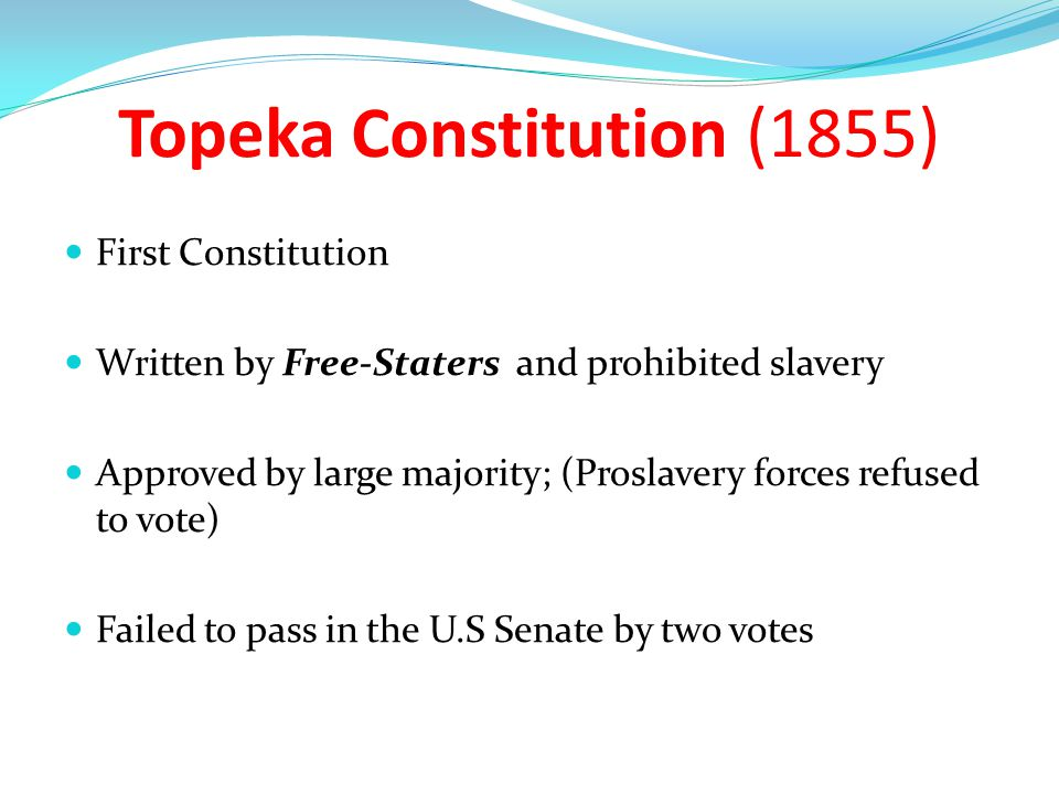 Topeka Constitution (1855)