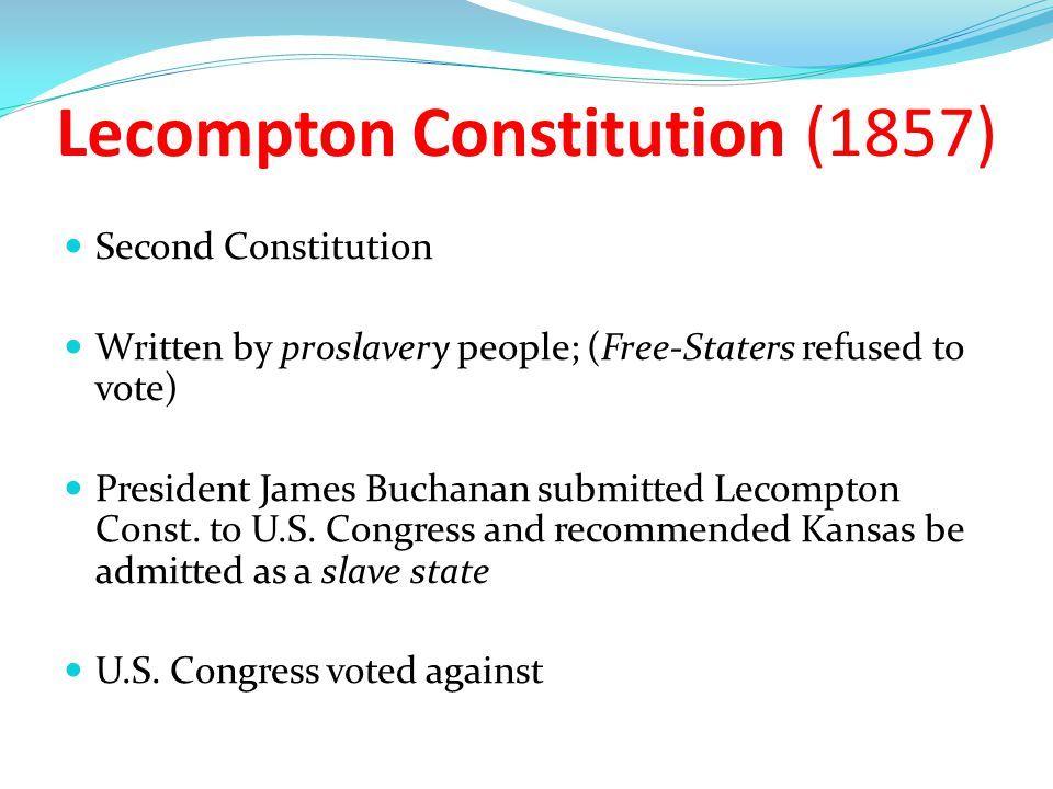 Lecompton Constitution (1857)