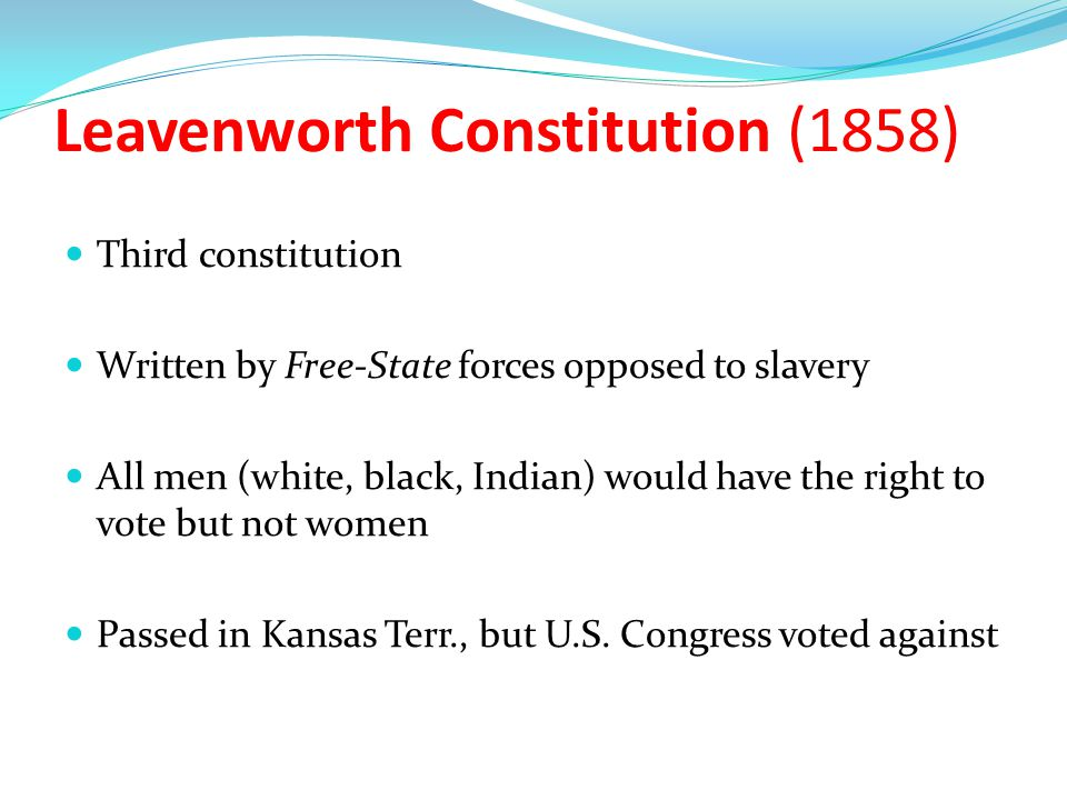 Leavenworth Constitution (1858)