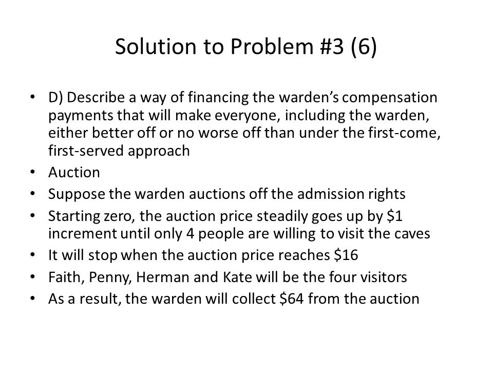 Solution to Problem #3 (6)