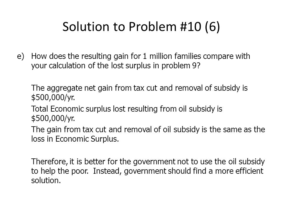 Solution to Problem #10 (6)