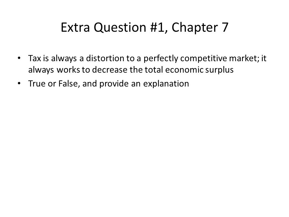 Extra Question #1, Chapter 7