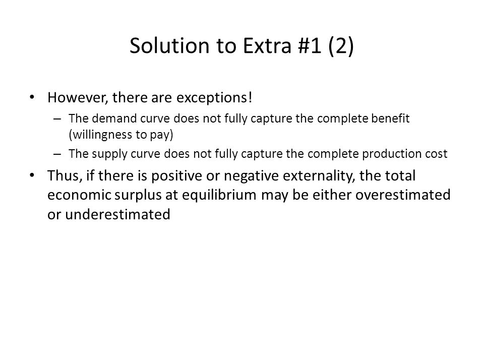 Solution to Extra #1 (2) However, there are exceptions!
