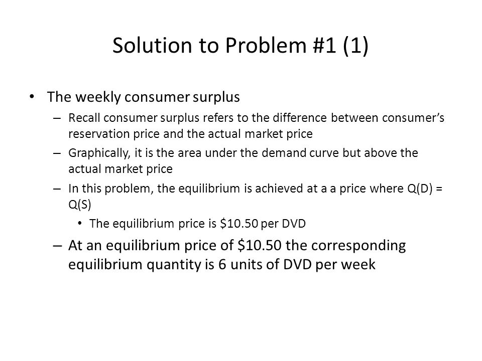 Solution to Problem #1 (1)