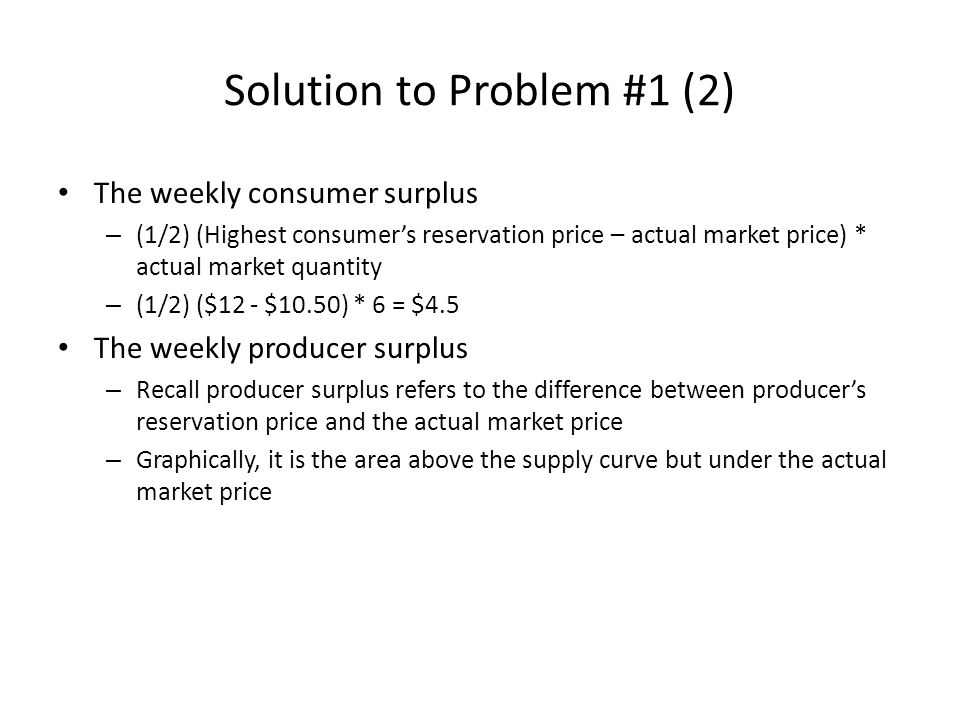 Solution to Problem #1 (2)