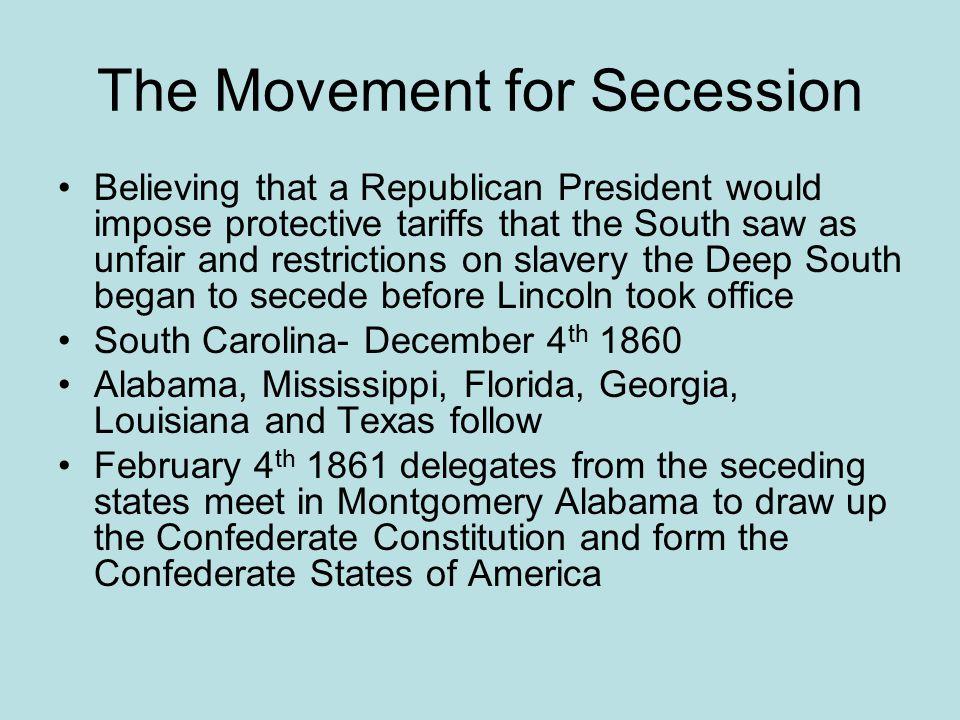 The Movement for Secession
