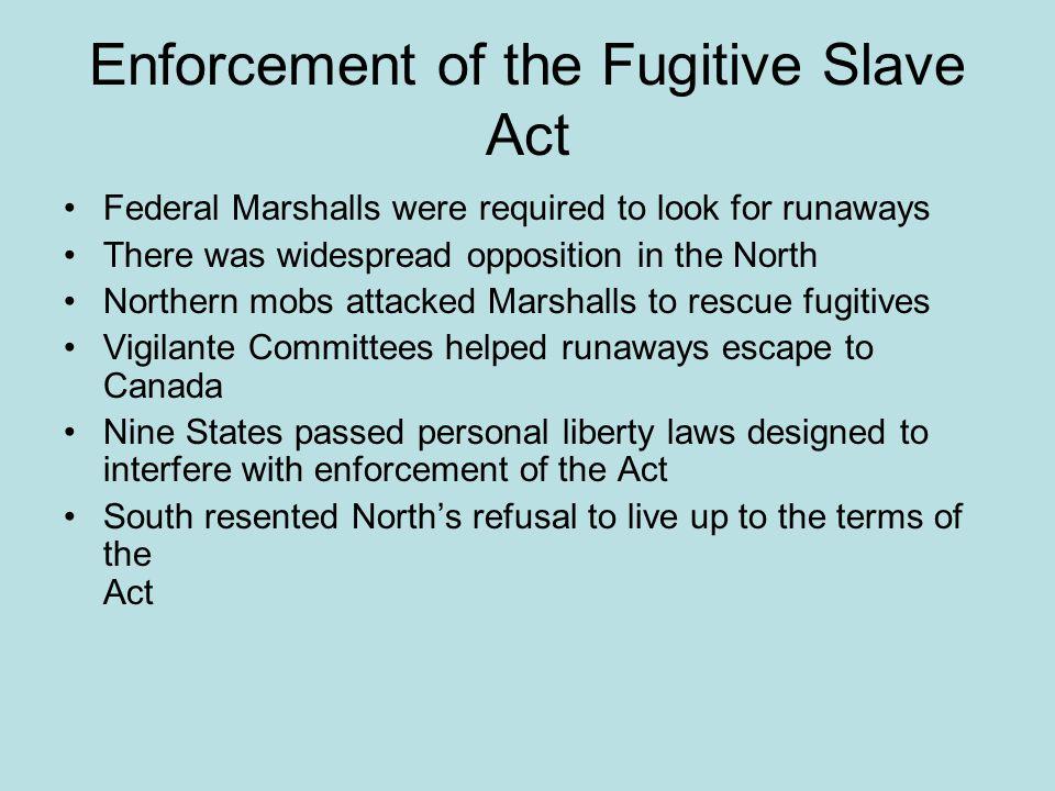 Enforcement of the Fugitive Slave Act