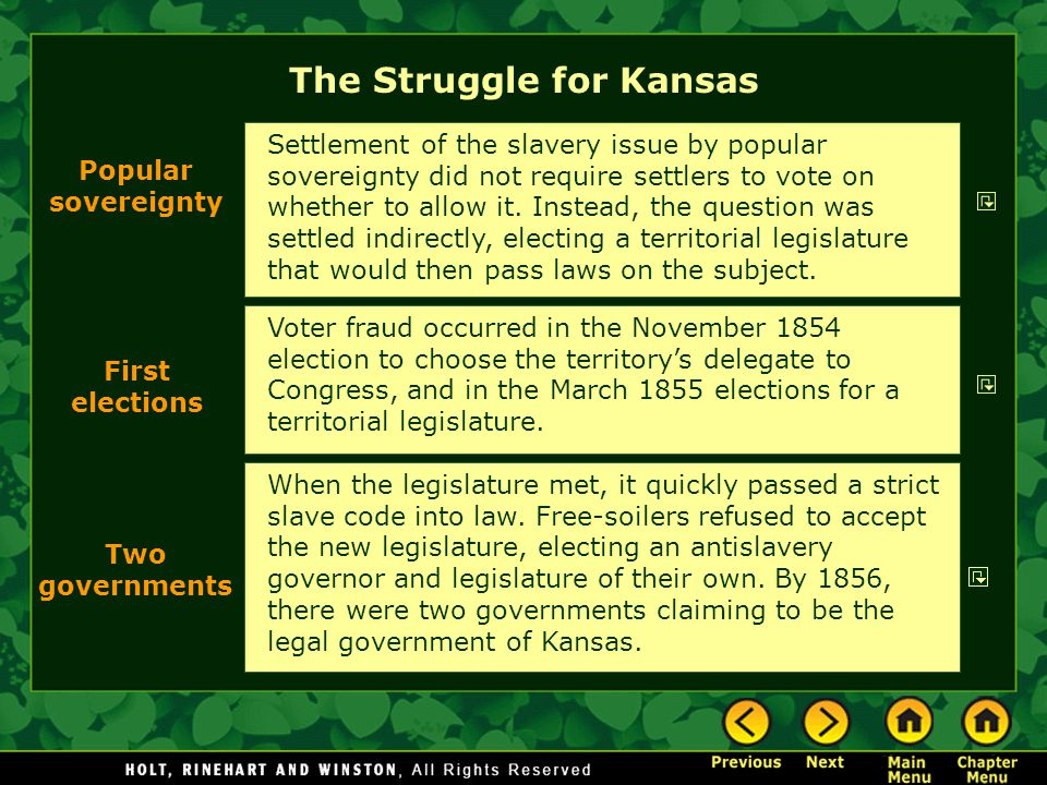 The Struggle for Kansas