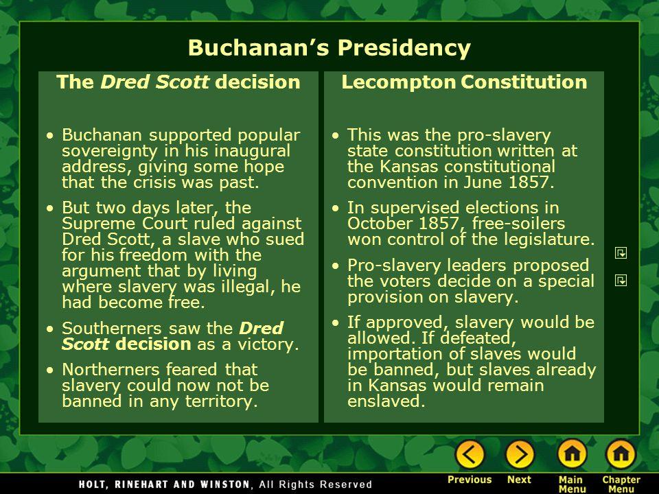 Buchanan's Presidency