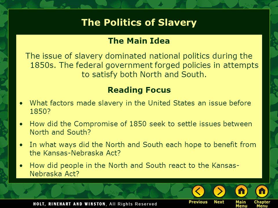 The Politics of Slavery