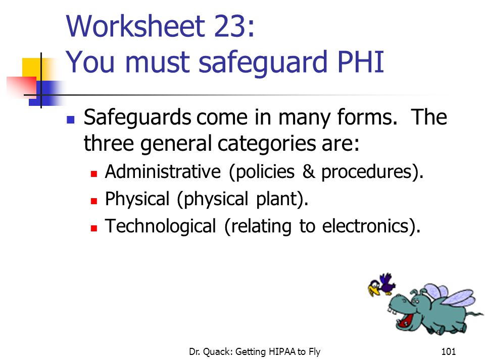 Worksheet 23: You must safeguard PHI