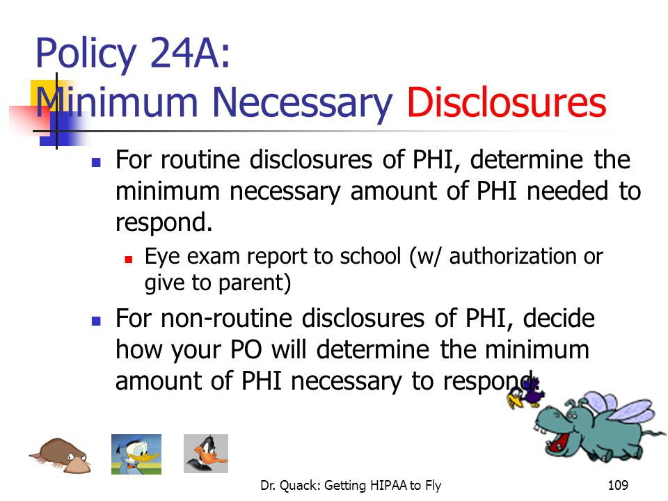 Policy 24A: Minimum Necessary Disclosures