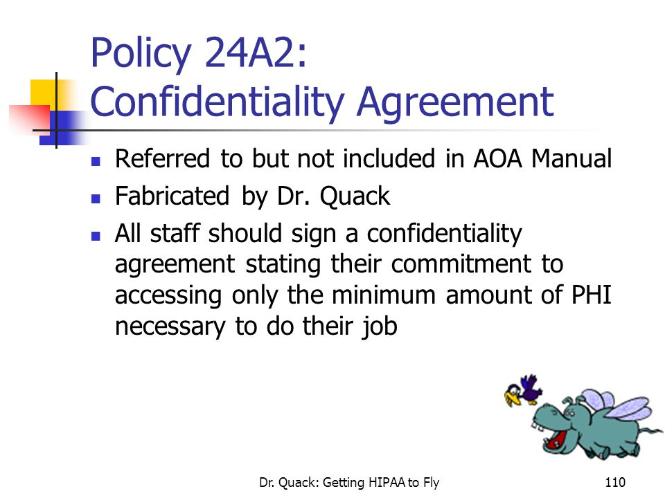 Policy 24A2: Confidentiality Agreement