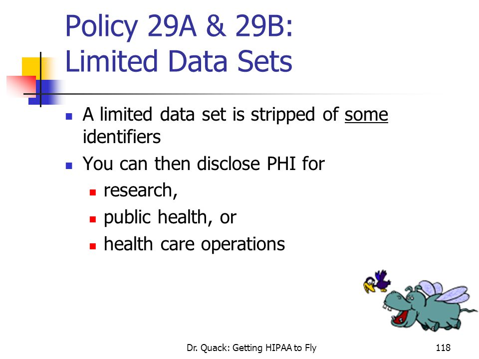 Policy 29A & 29B: Limited Data Sets
