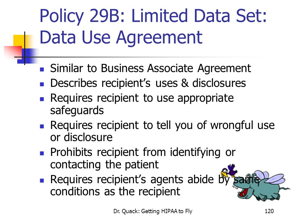 Policy 29B: Limited Data Set: Data Use Agreement