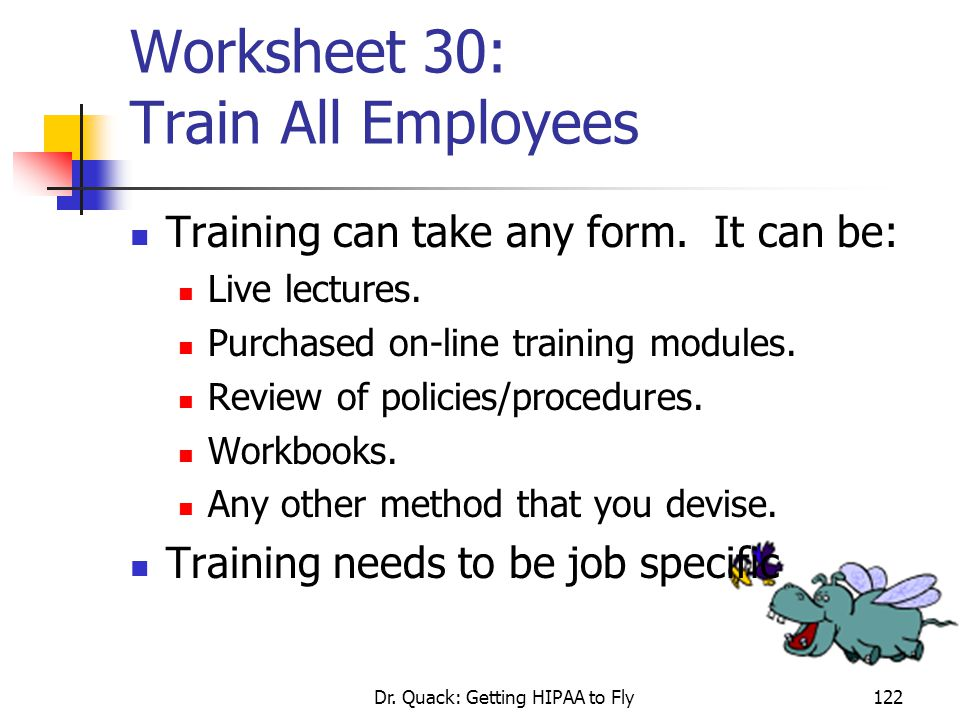Worksheet 30: Train All Employees
