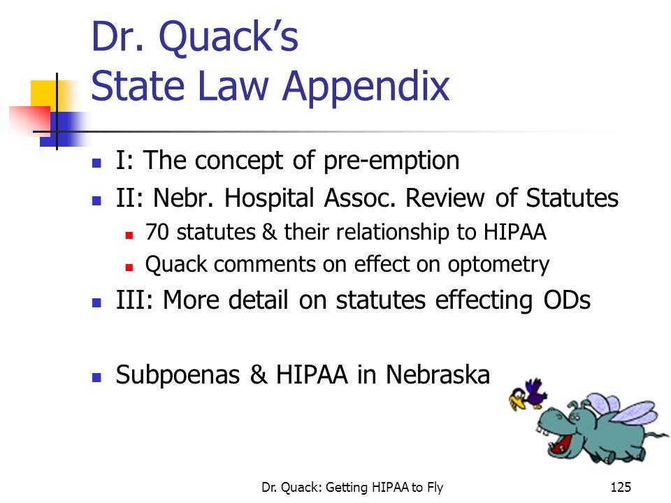Dr. Quack's State Law Appendix