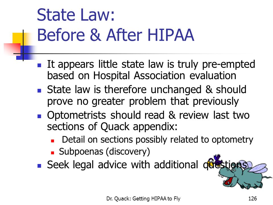 State Law: Before & After HIPAA