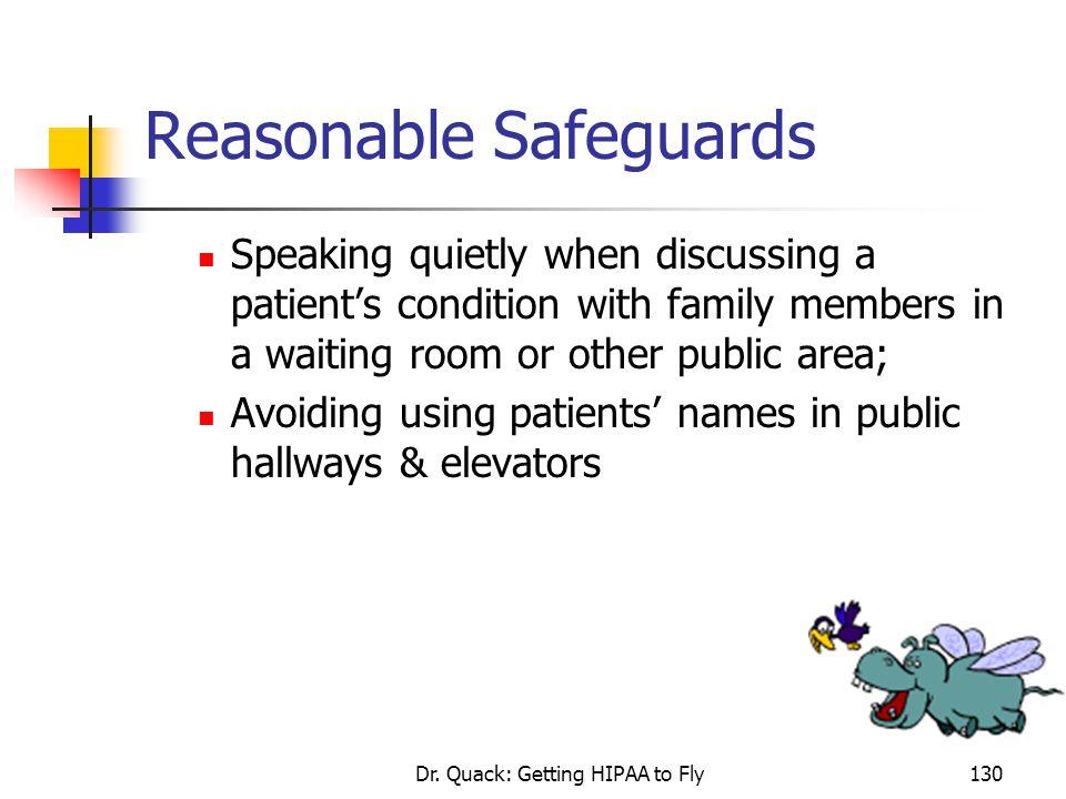 Reasonable Safeguards