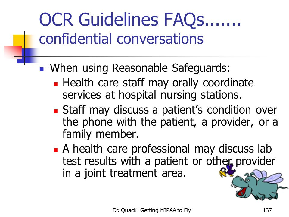 OCR Guidelines FAQs....... confidential conversations