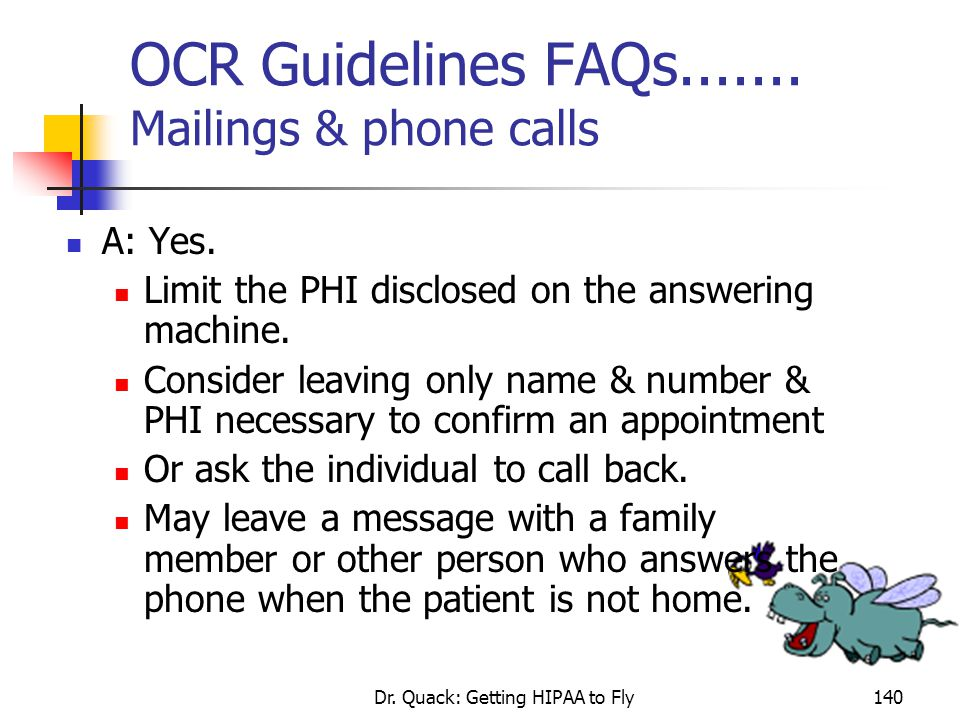 OCR Guidelines FAQs....... Mailings & phone calls