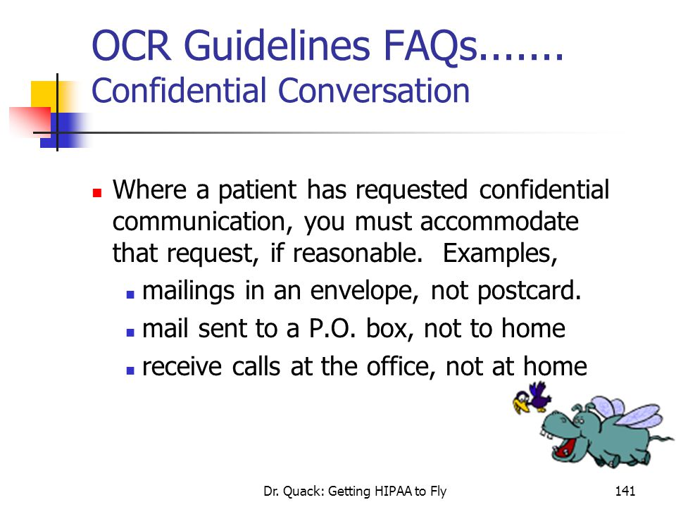 OCR Guidelines FAQs....... Confidential Conversation