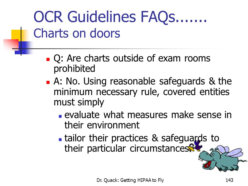 OCR Guidelines FAQs....... Charts on doors