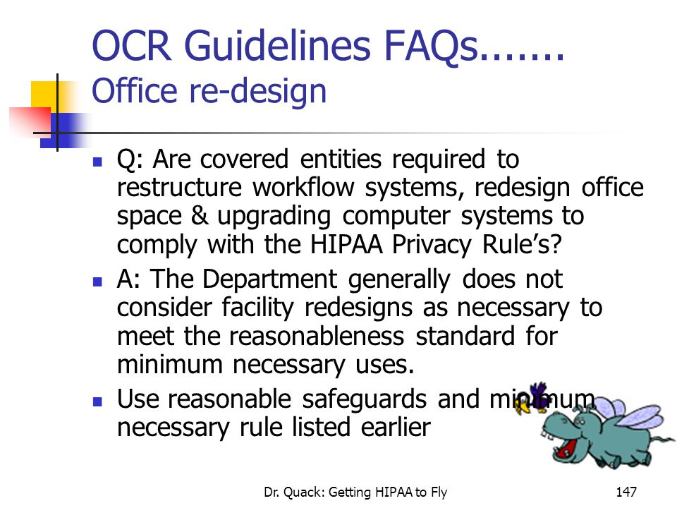 OCR Guidelines FAQs....... Office re-design