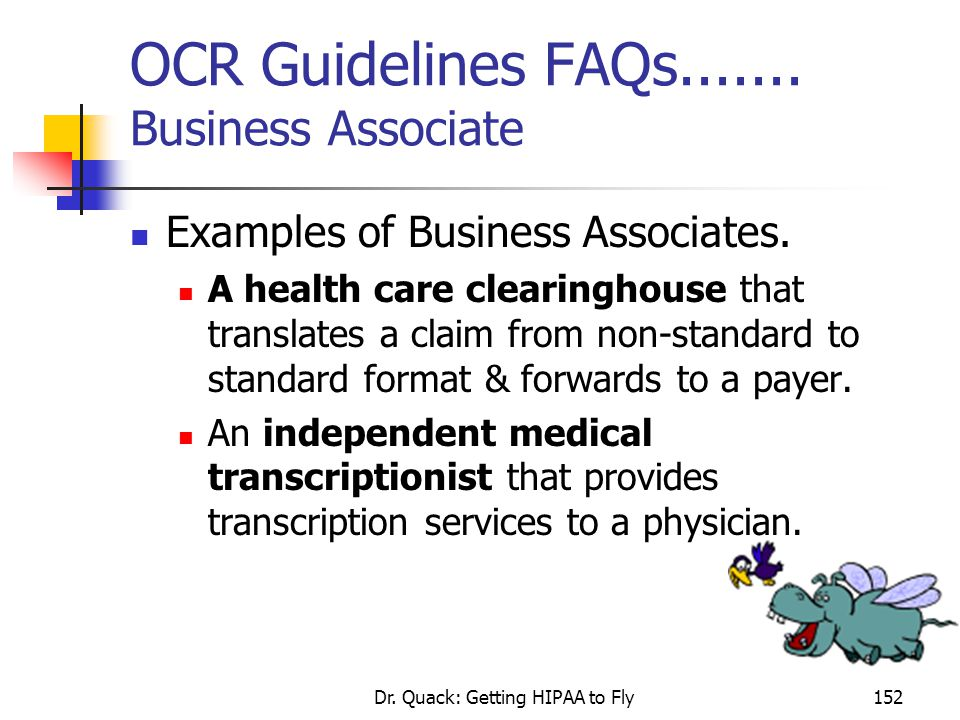 OCR Guidelines FAQs....... Business Associate