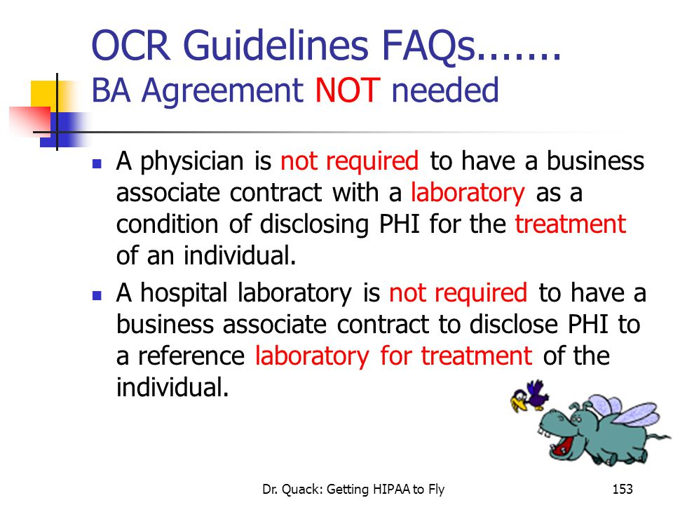 OCR Guidelines FAQs....... BA Agreement NOT needed