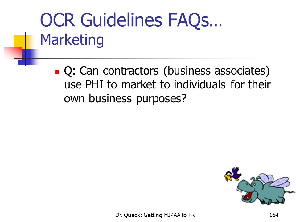OCR Guidelines FAQs... Marketing