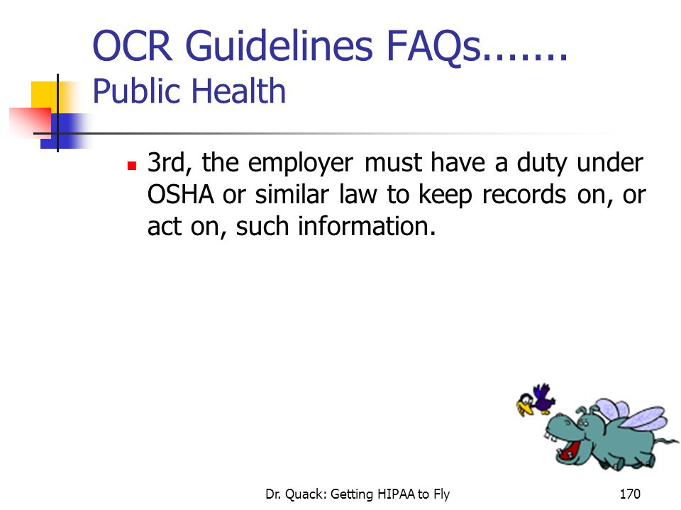 OCR Guidelines FAQs....... Public Health