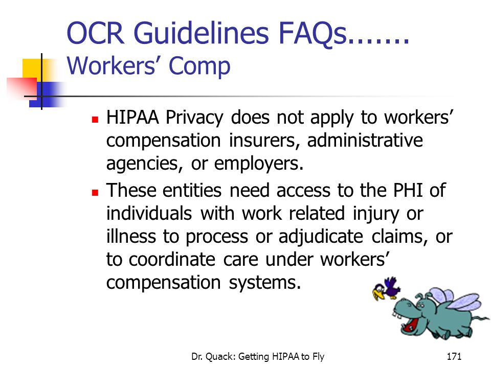 OCR Guidelines FAQs....... Workers' Comp