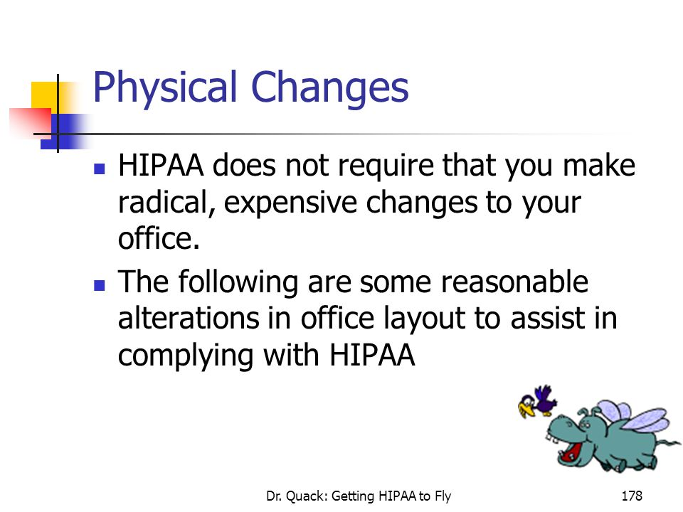 Dr. Quack: Getting HIPAA to Fly