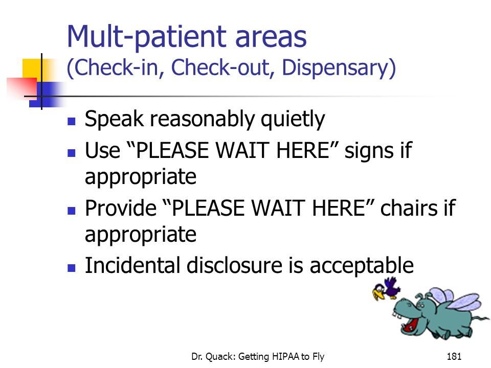 Mult-patient areas (Check-in, Check-out, Dispensary)