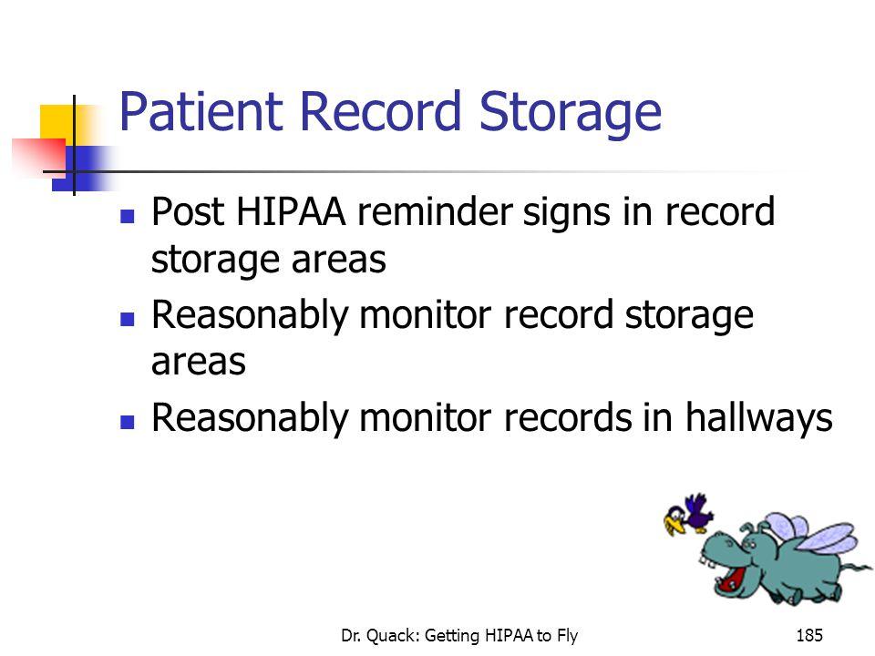 Patient Record Storage