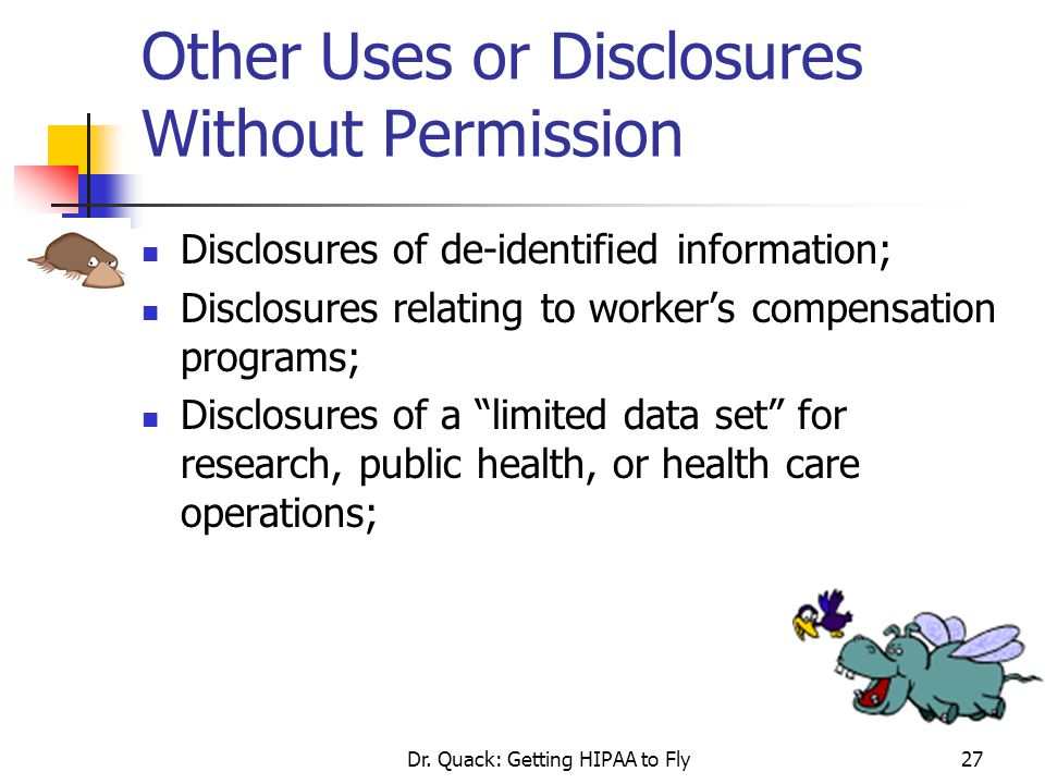 Other Uses or Disclosures Without Permission