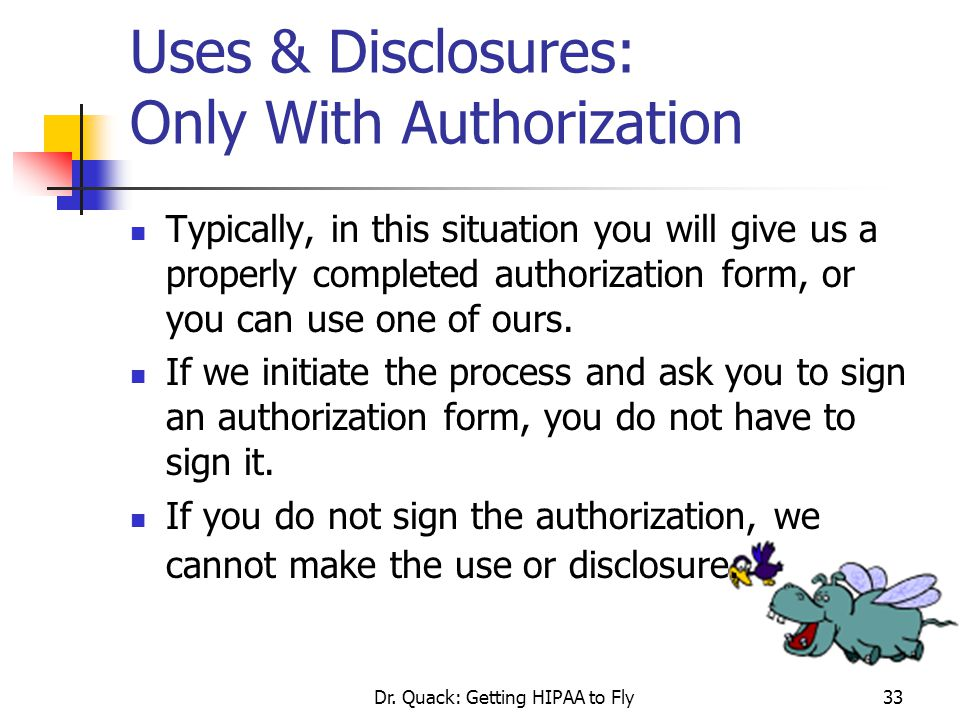 Uses & Disclosures: Only With Authorization