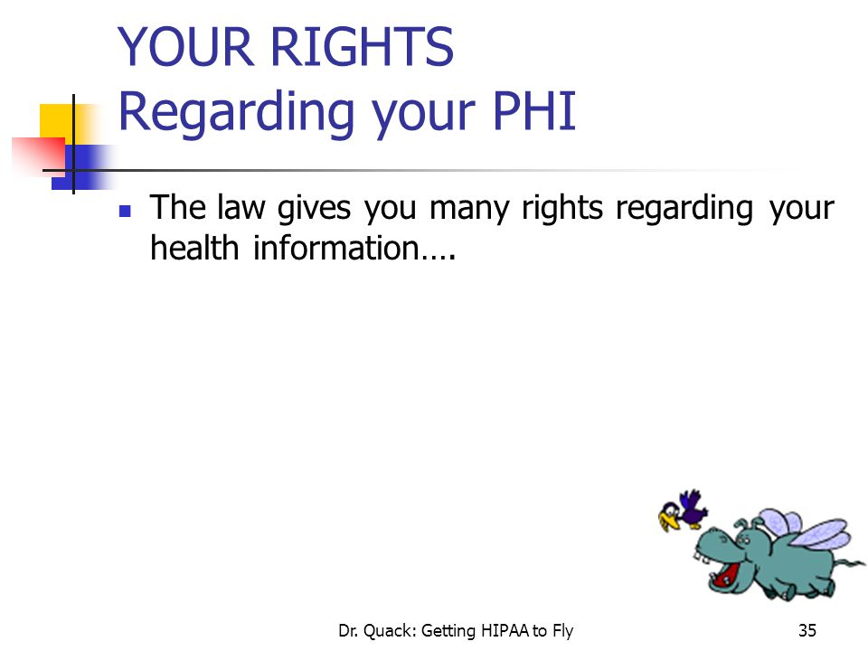 YOUR RIGHTS Regarding your PHI
