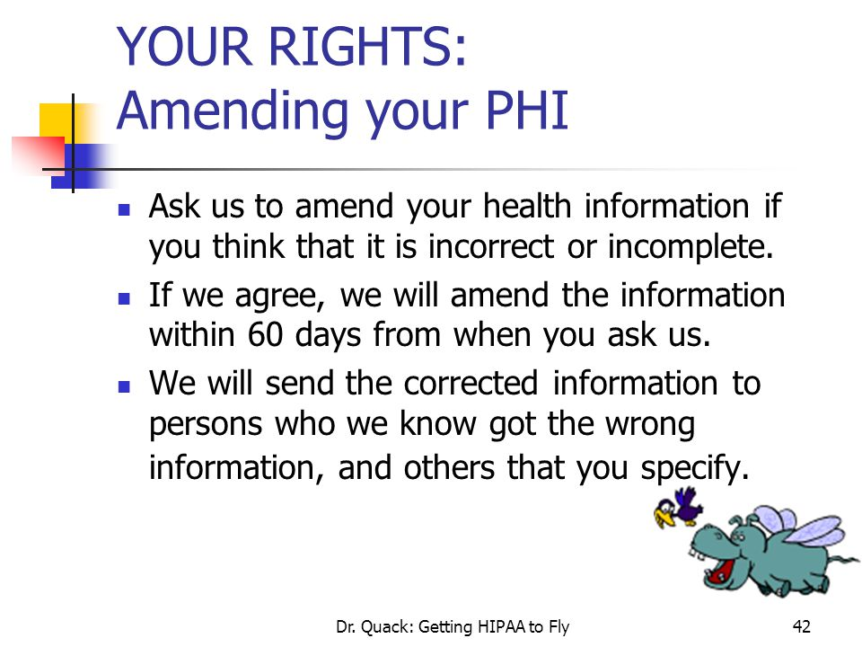 YOUR RIGHTS: Amending your PHI