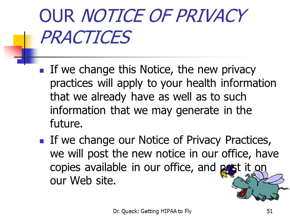 OUR NOTICE OF PRIVACY PRACTICES