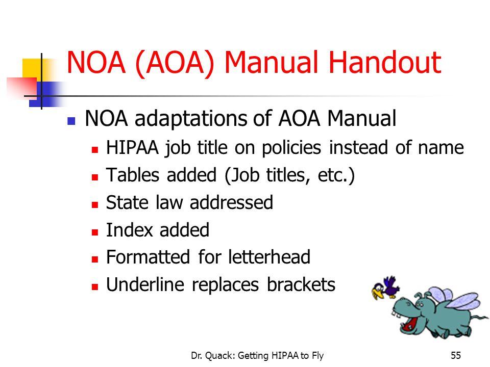 NOA (AOA) Manual Handout