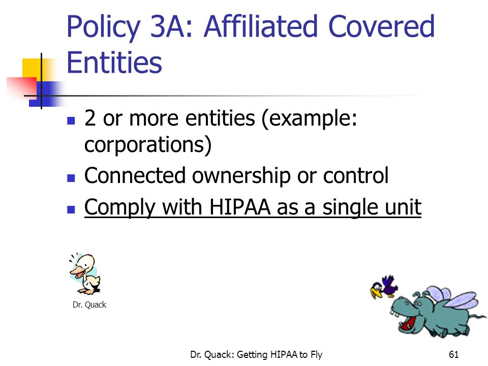 Policy 3A: Affiliated Covered Entities