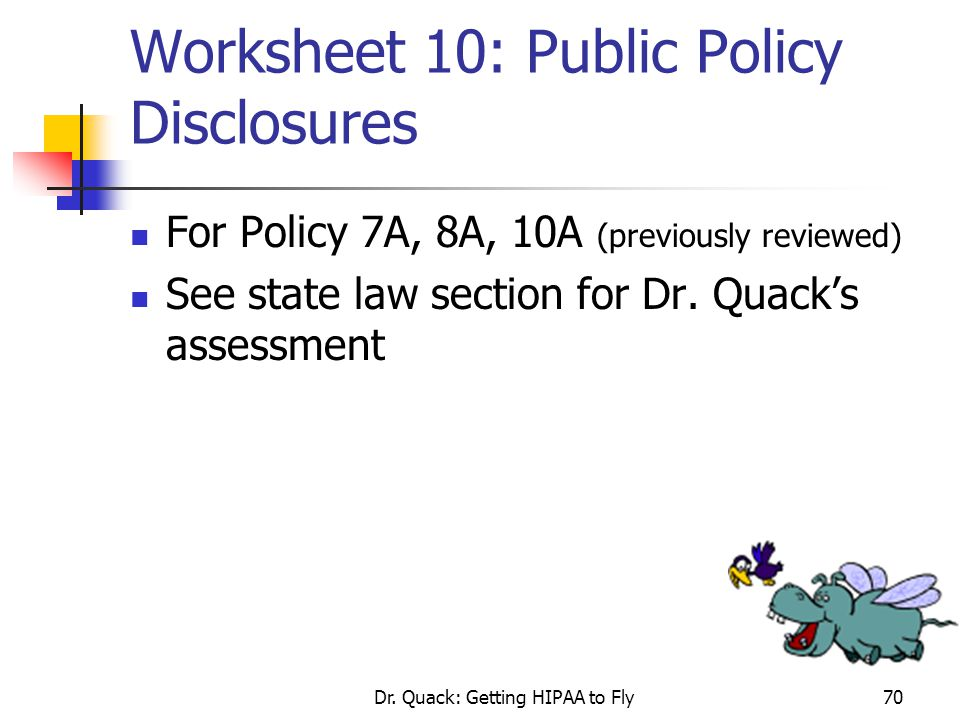 Worksheet 10: Public Policy Disclosures