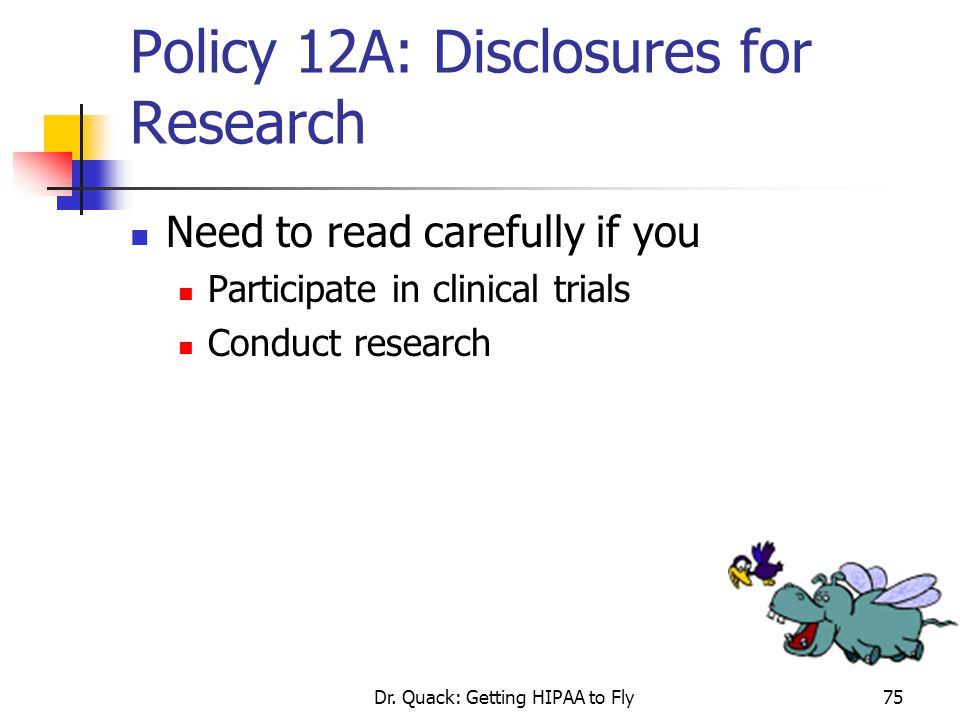 Policy 12A: Disclosures for Research