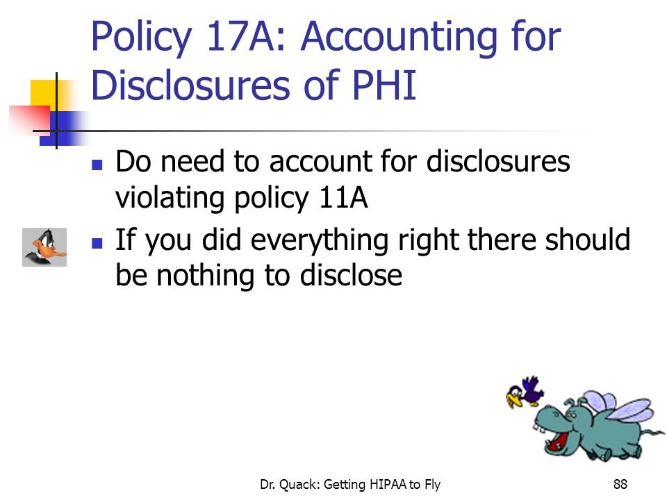 Policy 17A: Accounting for Disclosures of PHI