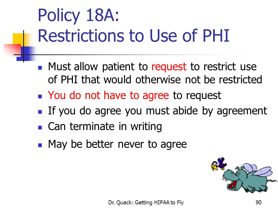 Policy 18A: Restrictions to Use of PHI