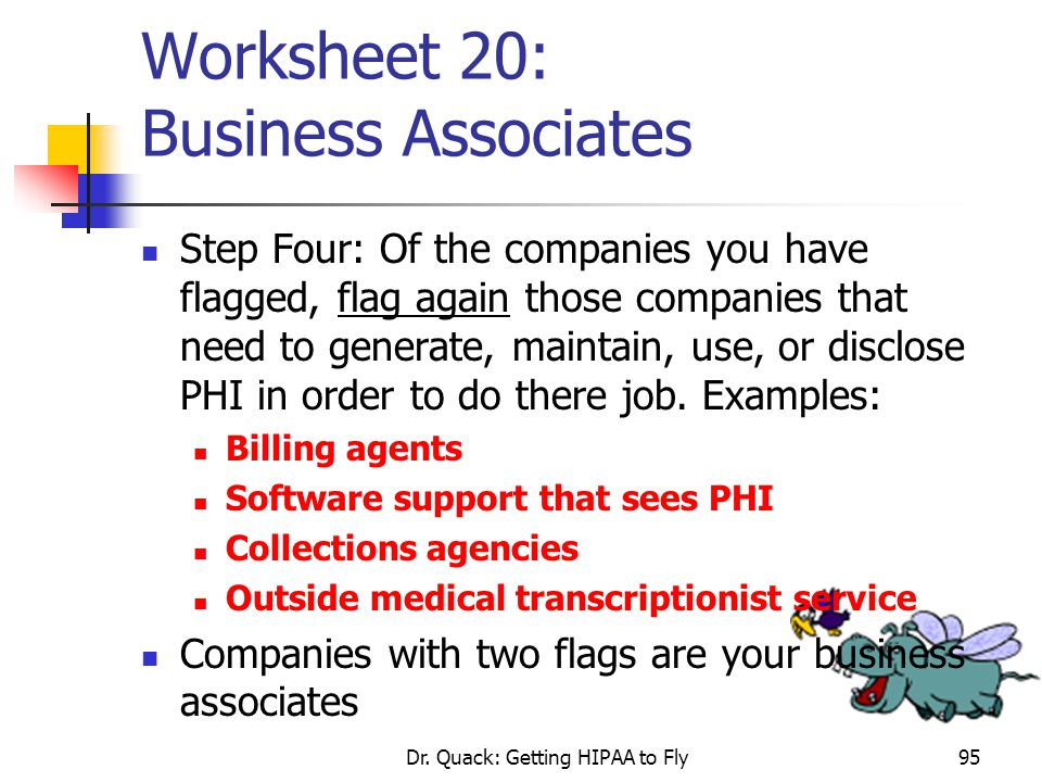 Worksheet 20: Business Associates