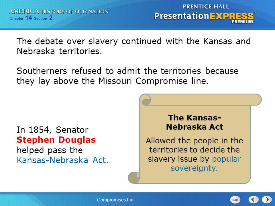 The Kansas- Nebraska Act